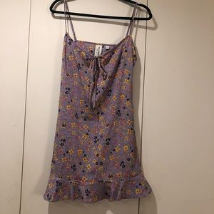 Collusion Floral Print Dress